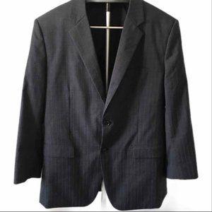 Theory Xylo Pinstripe Charcoal Two Button Blazer